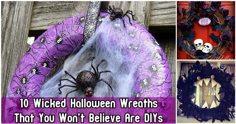 10 Wicked Halloween Wreaths That You Won't Believe Are DIYs