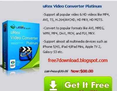 uRex Video Converter Platinum License Key Free Giveaway