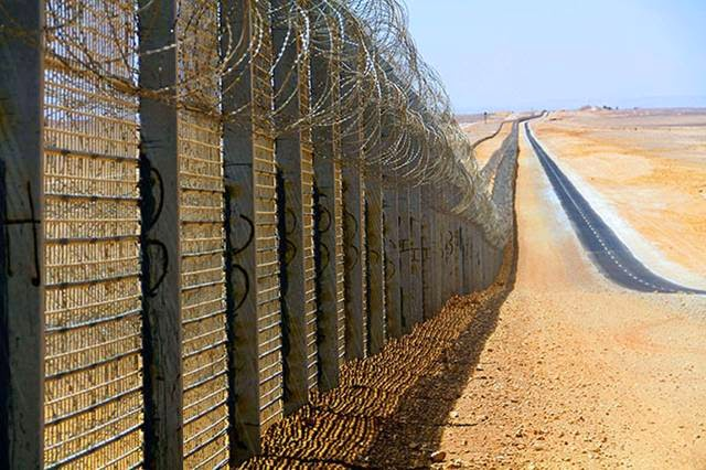 The border of Egypt and Gaza