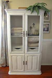 Distressed Ethan Allen Armoire
