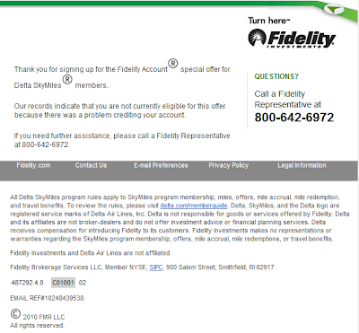 Fidelity Delta Promotion