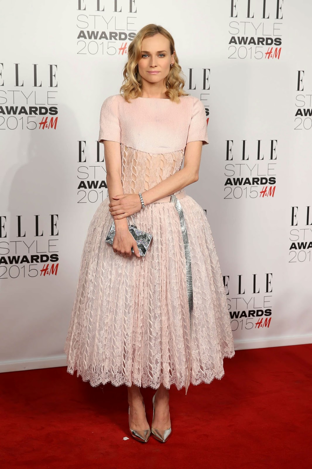 Diane Kruger flaunts Chanel at the 2015 Elle Style Awards in London