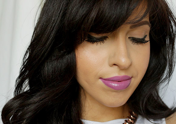 Wearing MAC Up the Amp Lipstick
