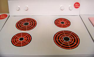 stove oven burner label