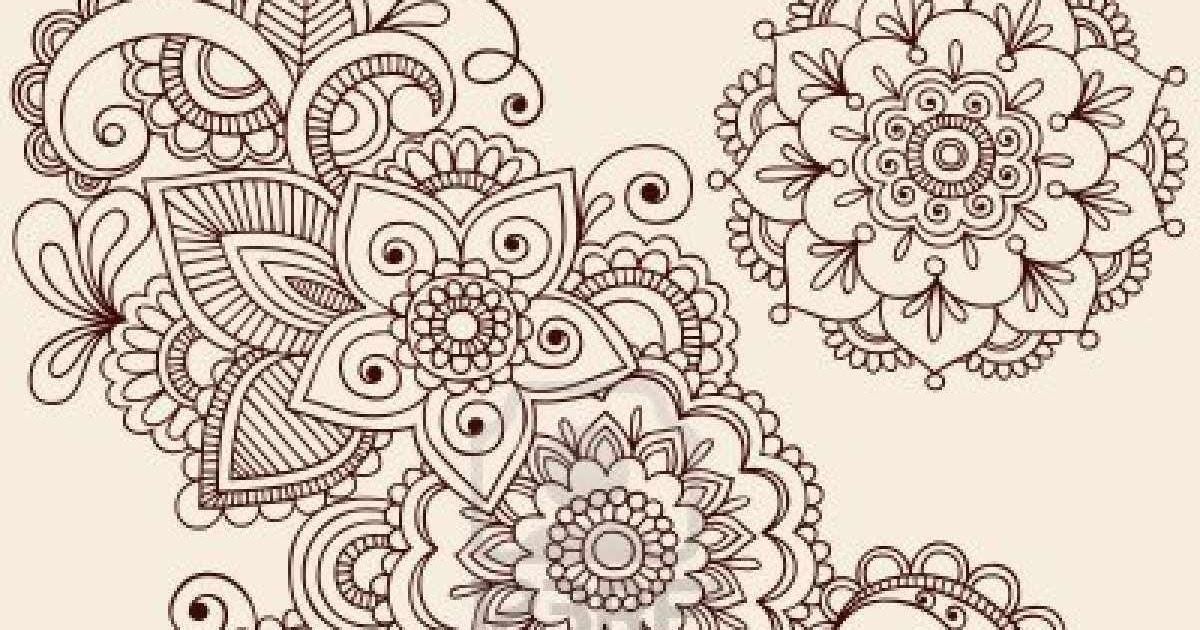 mandala madness a cool floral mandala to color. Black Bedroom Furniture Sets. Home Design Ideas