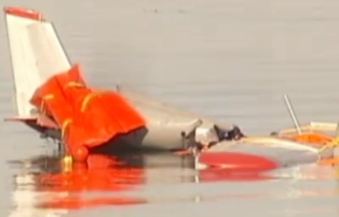 Plane Crashes Into Water in San Diego Bay