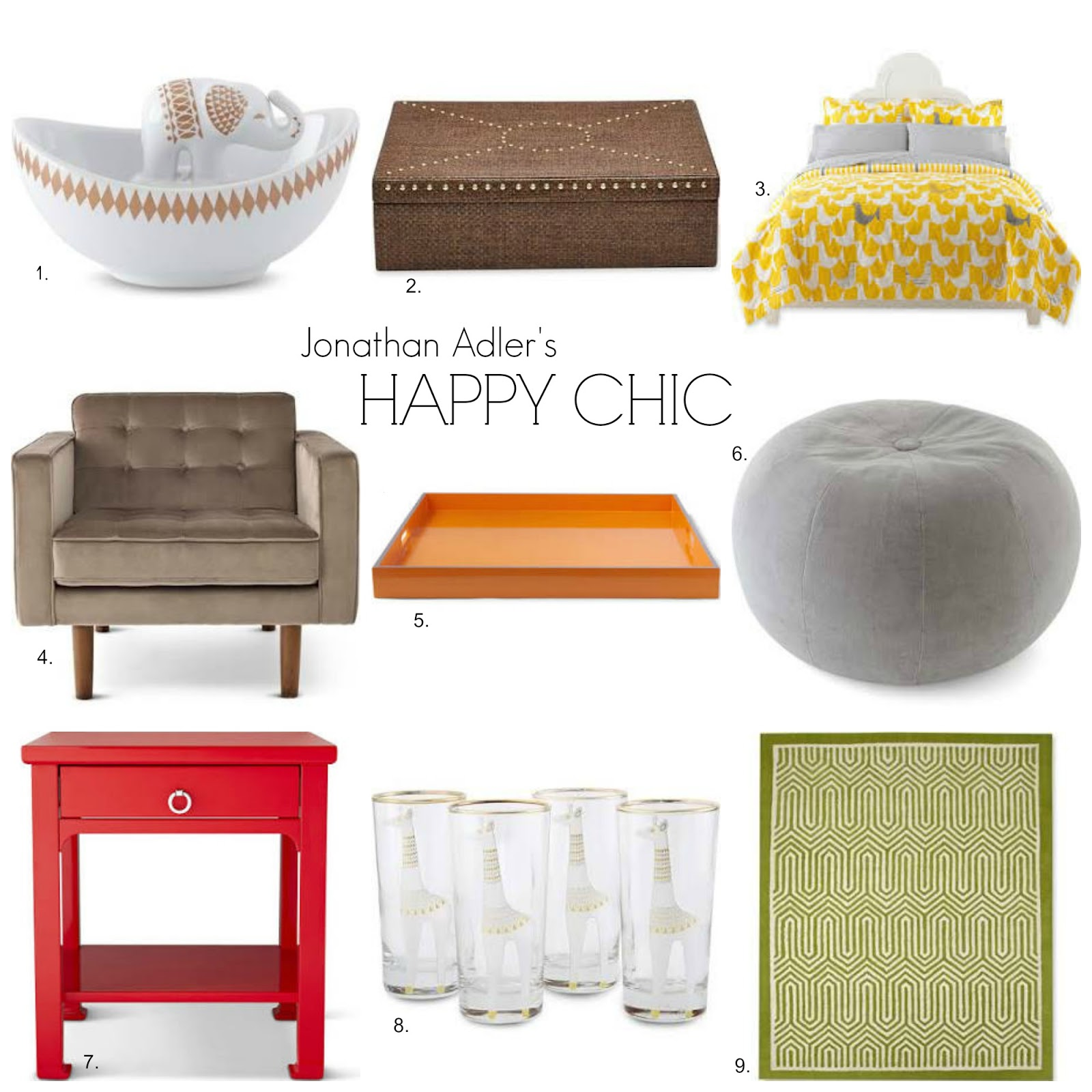 Finding Fabulous: Week-end Shopping…Jonathan Adler's Happy Chic!