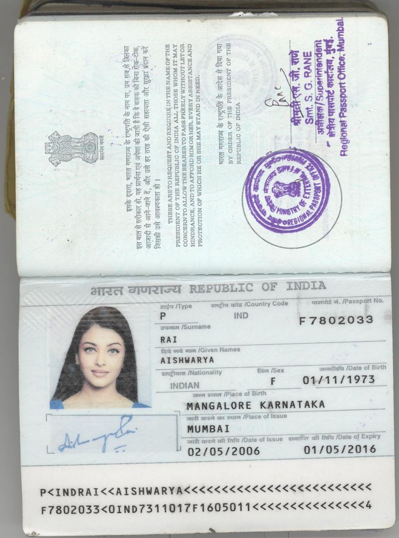 The most beautiful passport in India guess who