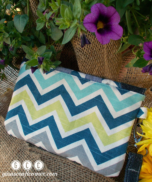 The Sunburst Clutch by GCC (pattern by Fabulous Home Sewn Patterns)