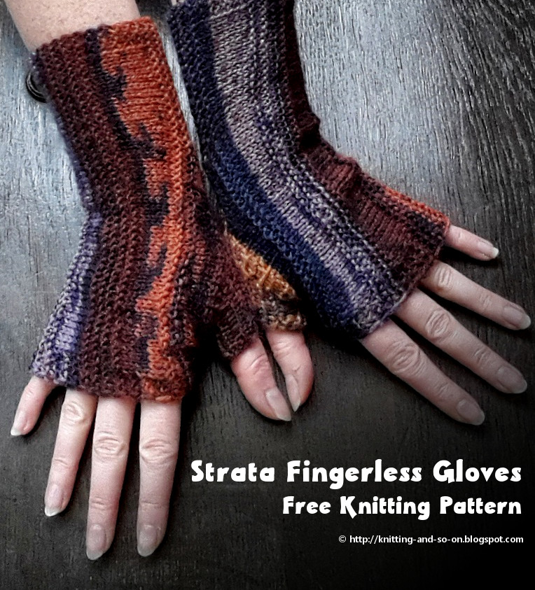 Knitting And So On Strata Fingerless Gloves