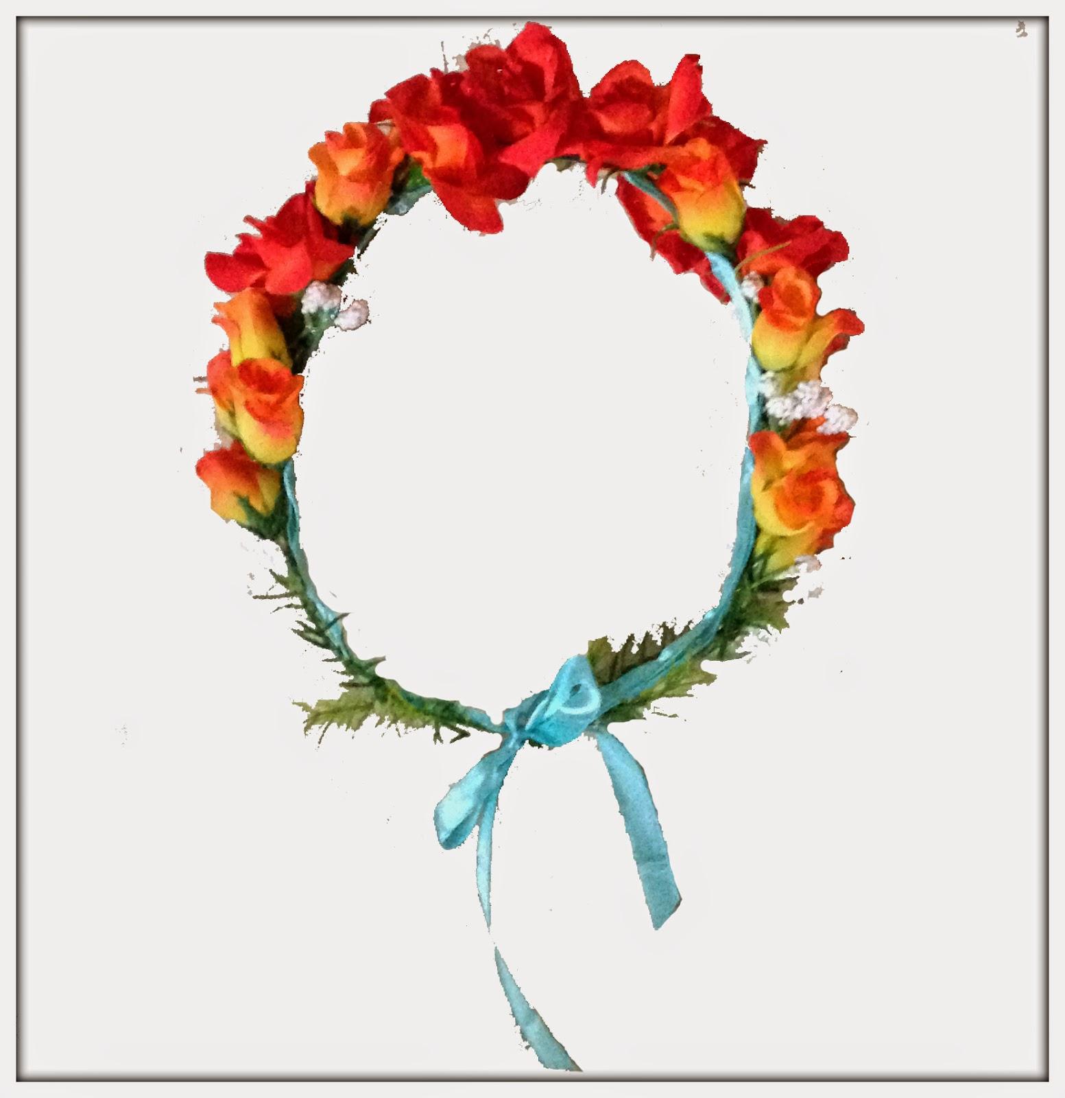 corona fiori fatta a mano roses