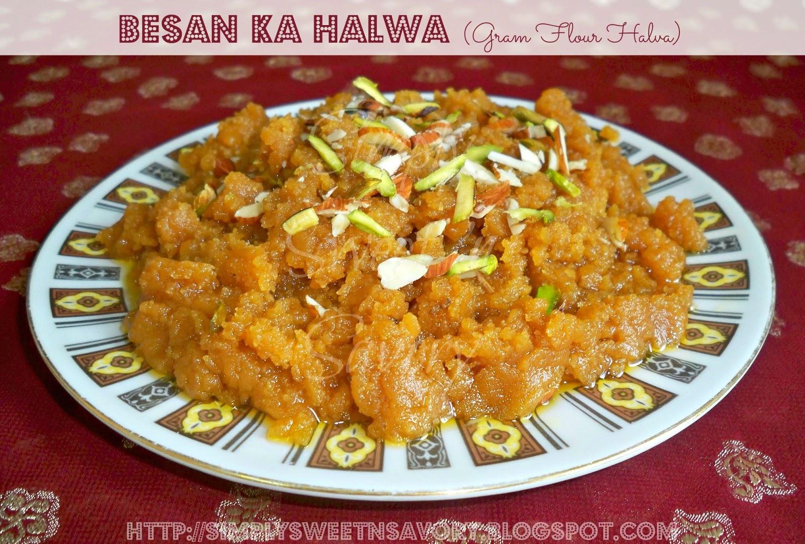 Besan Ka Halwa ( Gram Flour Halva )