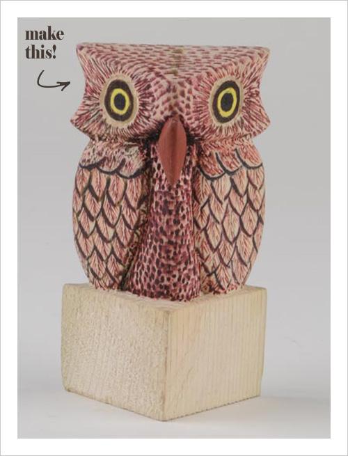 My owl barn easy tutorial to carve an