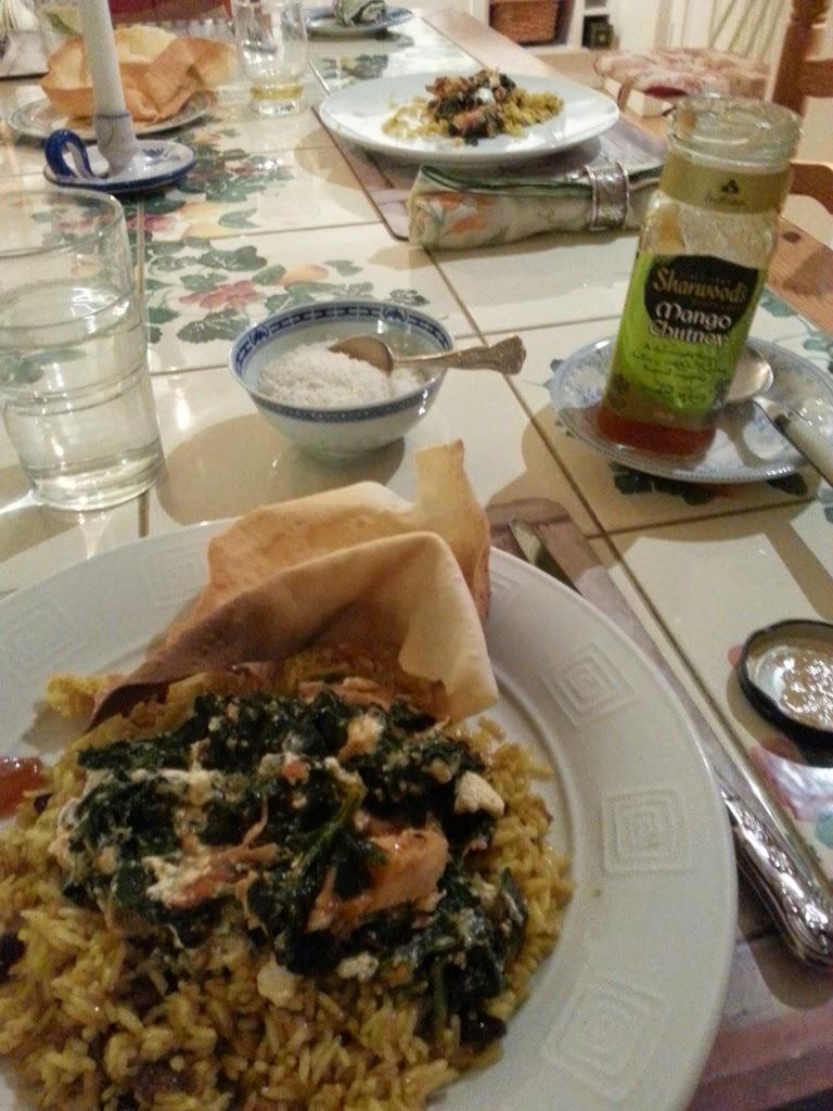 curry di pollo e spinaci