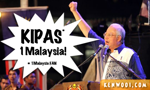 najib speech 1malaysia fan