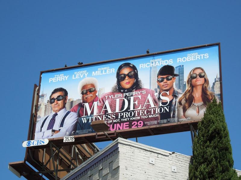 Madeas Witness Protection billboard