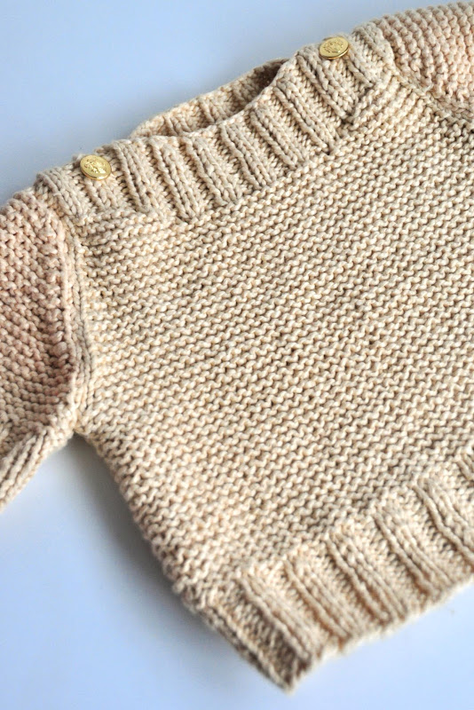 Aesthetic Nest: Knitting: Boatneck Sweater with Gold Buttons