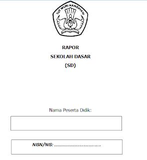 Petunjuk Pengisian Raport SD Kurikulum Nasional