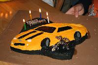 Transformers Bumblebee bithday cake