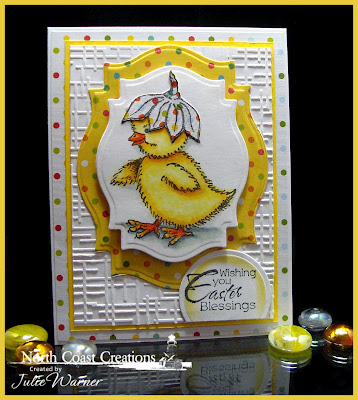 Stamps North Coast Creations Flower Bonnet Chick- Designer Julie Warner