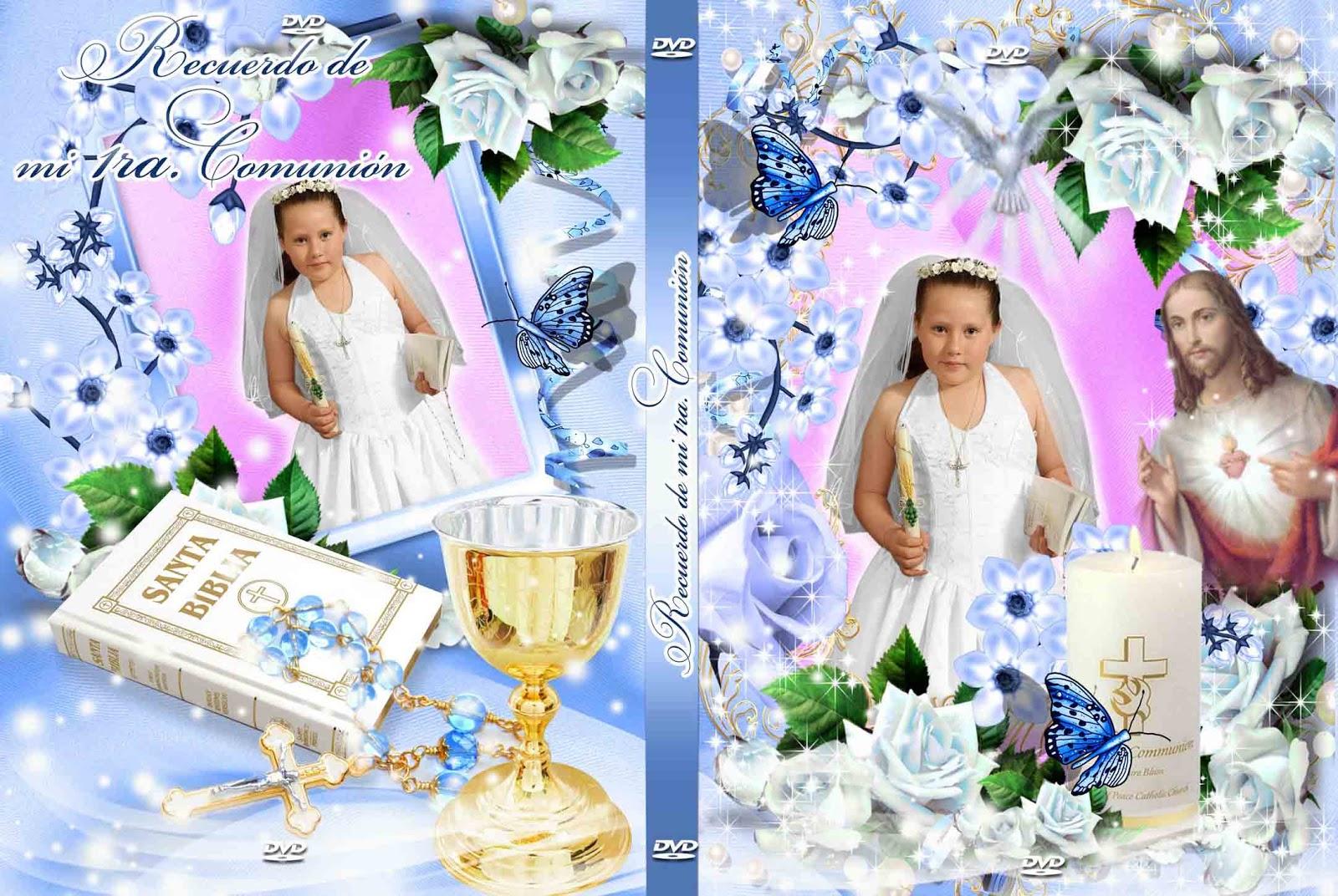 Portada para DVD para Primera Comunión - Plantillas para photoshop 2017