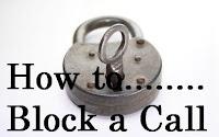 How do you block a call