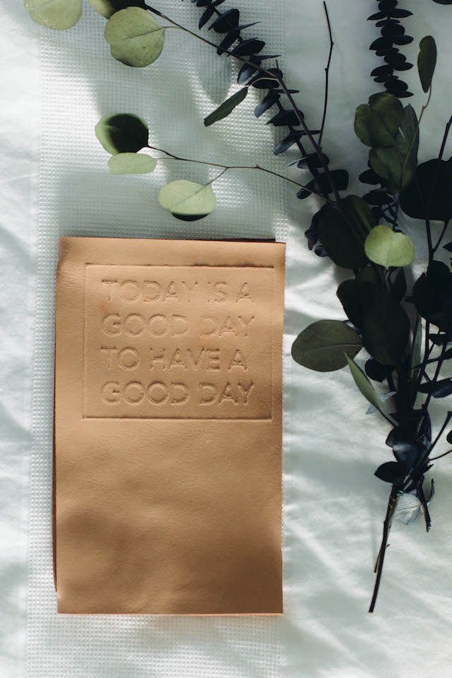 Leather Monthly Planner | DIY