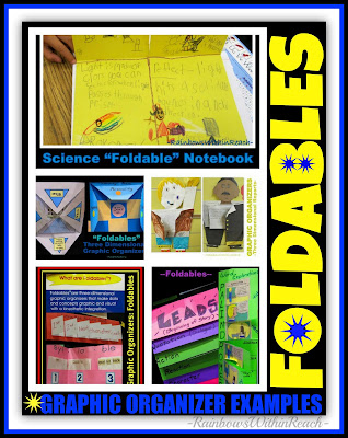 photo of: Foldables, Graphic Organizers + PopUps (RoundUP via RainbowsWithinReach)