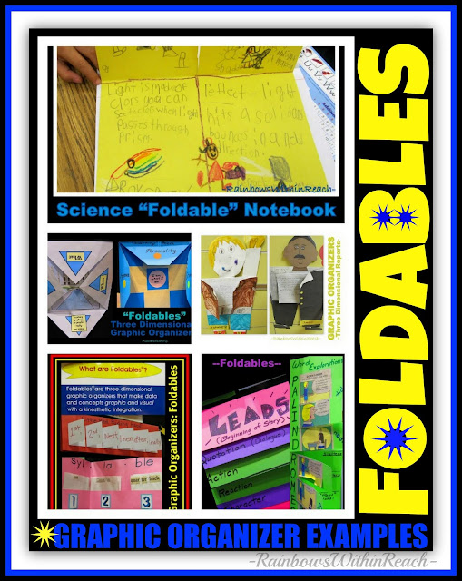 photo of: Foldables, Graphic Organizers + PopUps (RoundUP via RainbowsWithinReach)