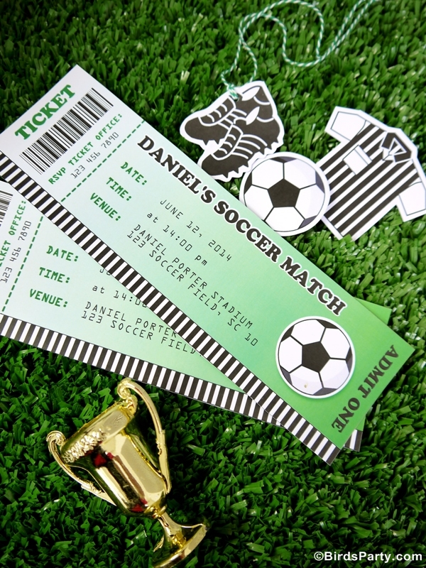 World Cup Party Ideas: Soccer Football Birthday Printable Invitations