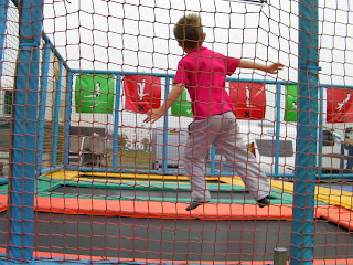 trampolining at the seafront