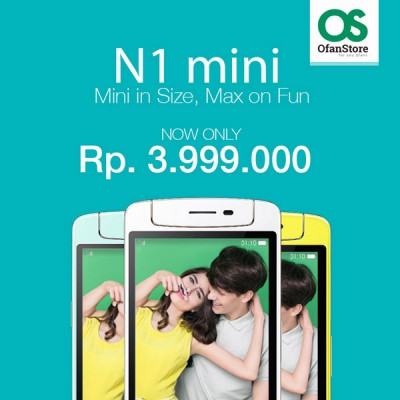 Turun Harga OPPO N1 mini, Kini Rp3.999.000