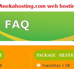 faq Anekahosting.Com Web Hosting Murah Terbaik Di Indonesia