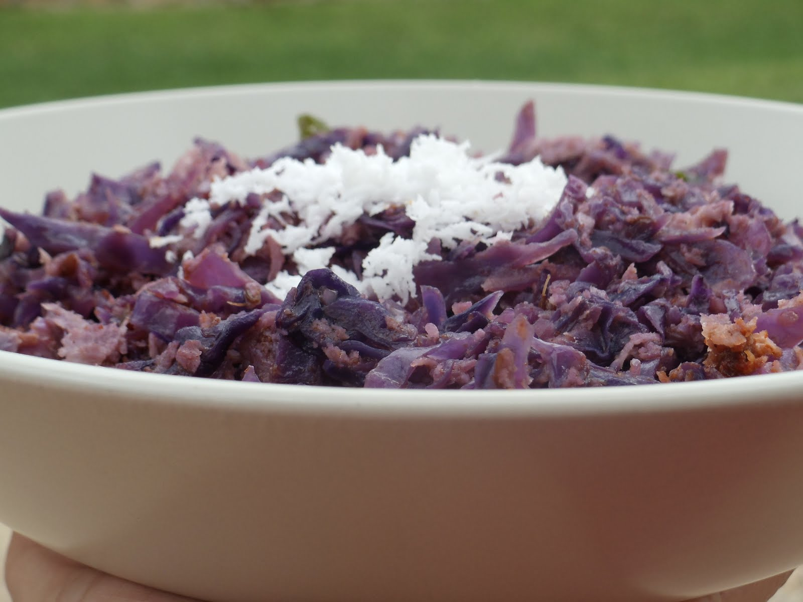 Stir fried purple cabbage