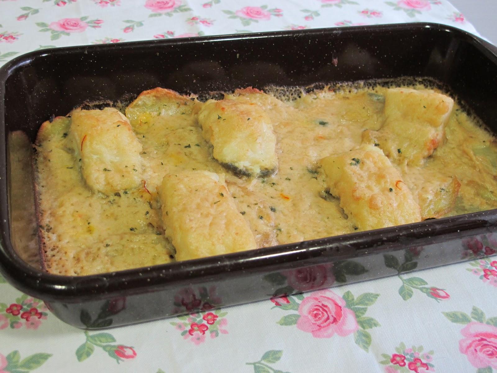 El gusto por lo bueno bacalao al horno en salsa de almendras - Cocinar bacalao congelado ...