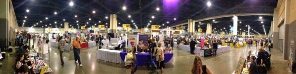 A picture of Artist Alley at HeroesCon 2013