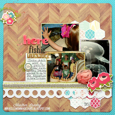 Aquarium_Birthday Scrapbook Page_New Orleans Layout