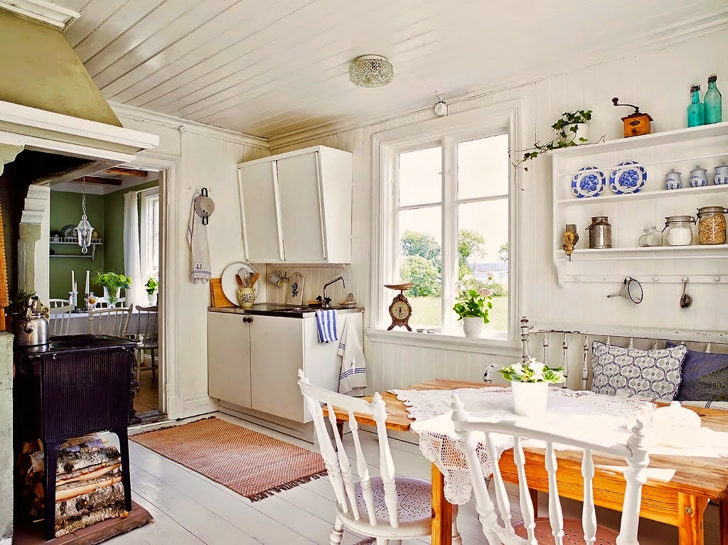 Deco ideas casa y jardin cocina comedor estilo cottage for Ideas deco estilo