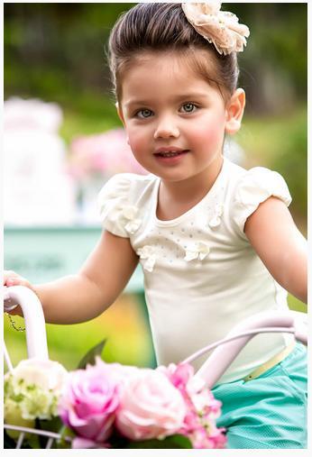 Coleção de Verão Paraíso Moda Bebê para as meninas