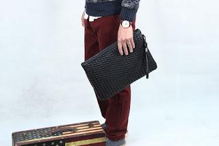 Tas Cowok Model Korea Baru Simple dan Elegant Januari 2016
