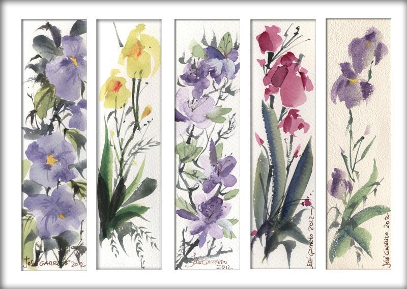 Artimañas: Marcapáginas II - Bookmaks - Flores - Acuarela (Técnicas ...