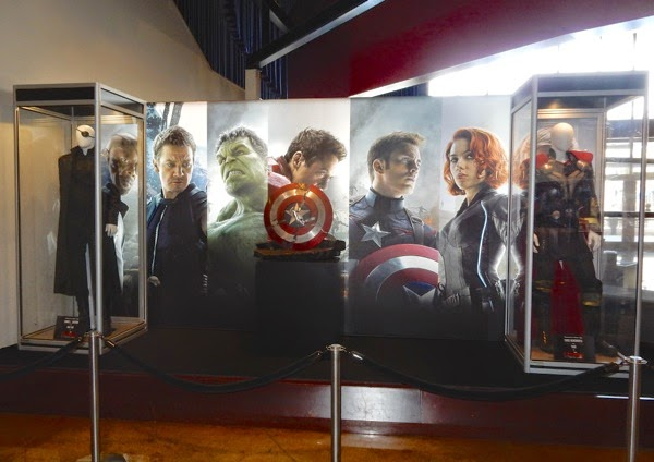 Avengers Age of Ultron costume prop exhibit