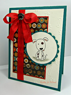 Basic Grey, card, dog, ideas, imaginiisce, Inspired by stamping, max and whiskers, scalloped circles, Spellbinders, thank you, to make,