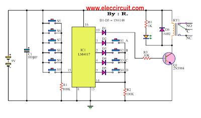 key-code-lock-switch-circuit