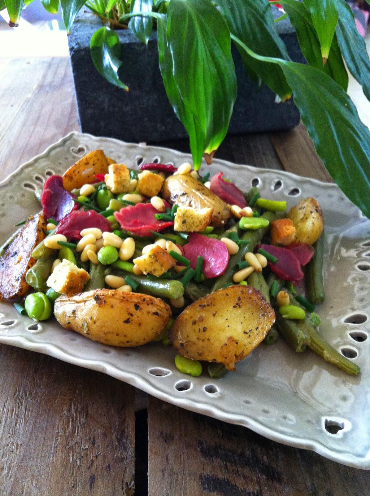 """alt=""""salade de haricots aux gésiers confits"""""""