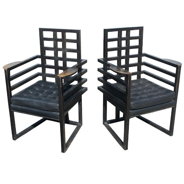 Jozefs Hofmans, Josef Hoffmann, Armloffel Chair 1908