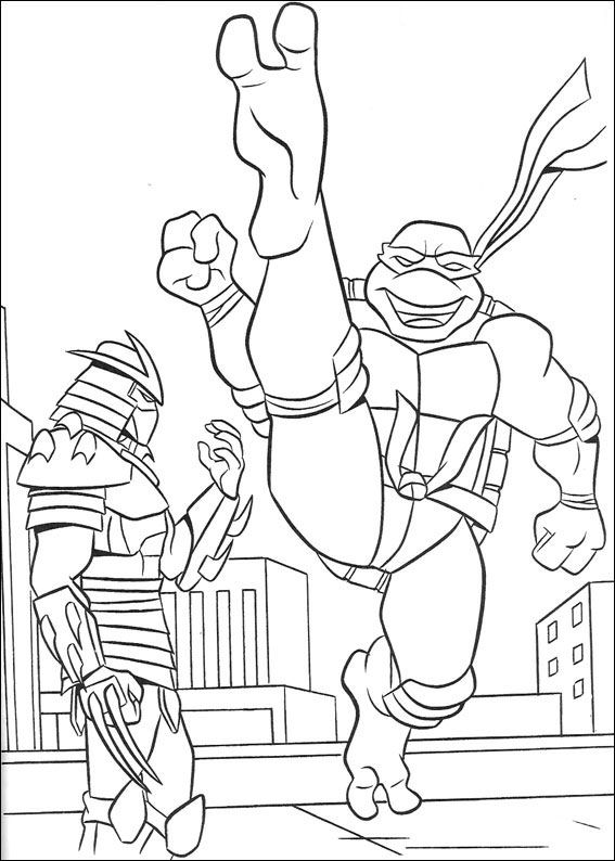 Hello Kitty Ninja Coloring Pages : Ninja turtles free coloring pages to print for kids