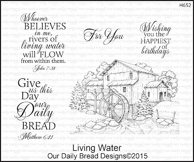 Our Daily Bread Designs stamp set: Living Water