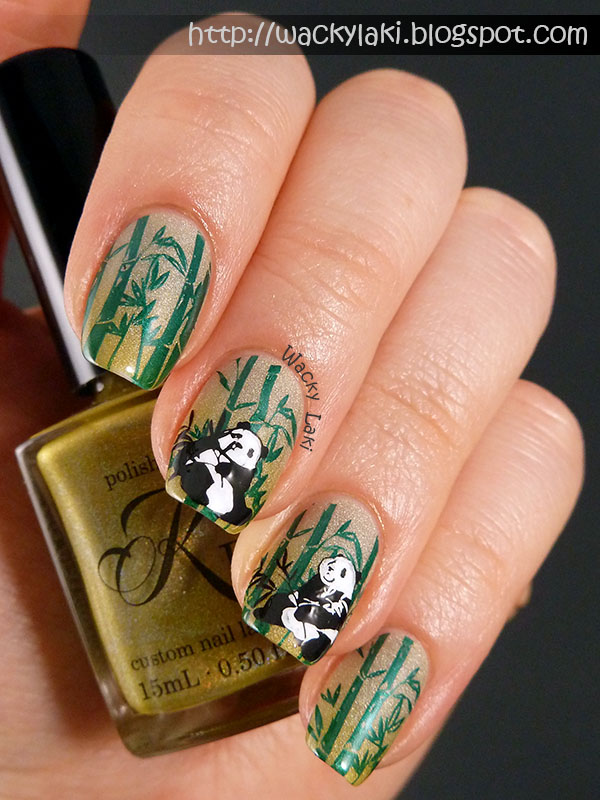 Wacky laki nail art with polished by kpt hot like wasabi the base of this manicure is polished by kpt hot like wasabi swatches of which you can see further down in this post i stamped the bamboo using sally prinsesfo Image collections