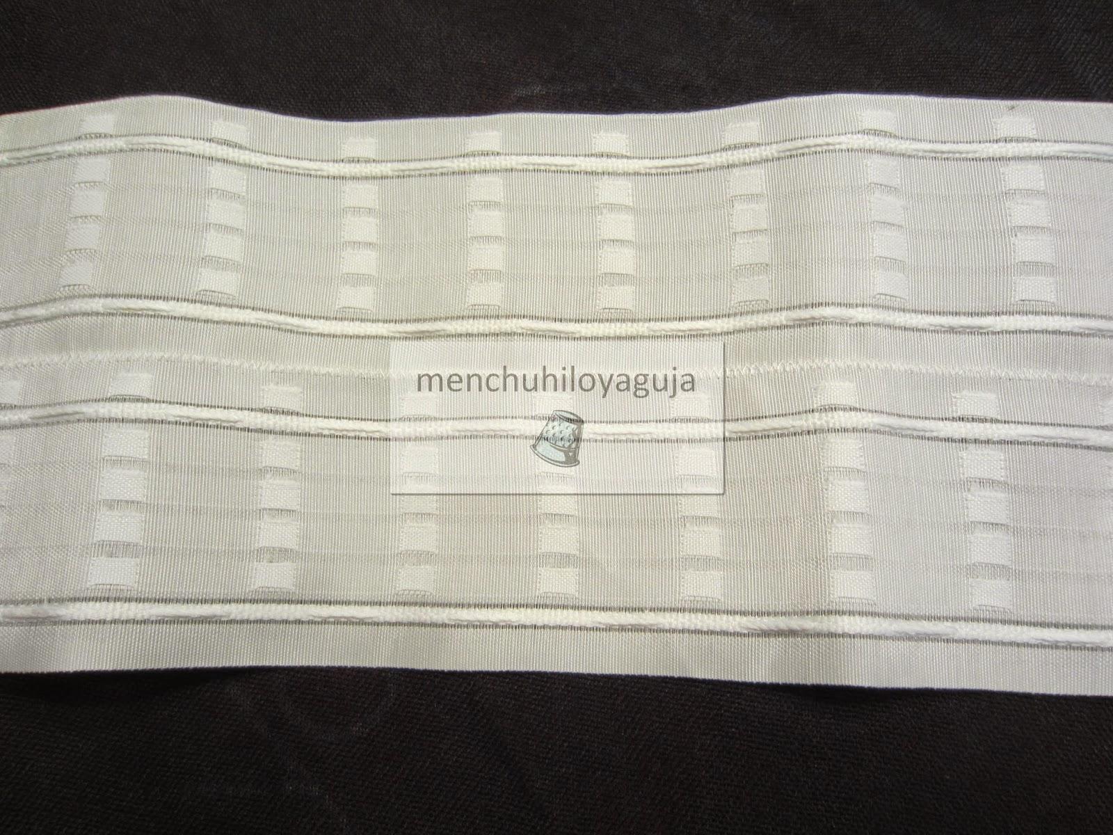 Patrones de costura visillos o cortinas con pinza for Ganchos para cortinas de madera